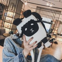 ingrosso cartone campus-Lucky2019 Single Canvas Satchel Packet Personality Lamb Mobile Phone Campus Student Bag Donna