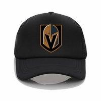 modèles de chapeau de plage achat en gros de-Dernier modèle Vegas Golden Knights modèle d'impression net cap casquette de baseball hommes femmes Summer Cap New Youth Joker chapeau de soleil Beach Visor