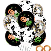 Wholesale other games for sale - Group buy Halloween Decoration Latex Balloon Party Children Games Arrangement Word Party Balloons Set Pumpkin Printing Festival Hot Sale wjH1