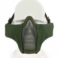 ingrosso maschere tattiche di metallo-Nuovo Tactical Airsoft Tactical PDW Mezza Maschera Metal Mesh Skull Protettivo Army Wargame Caccia Accessori Paintball Maschere