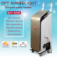Wholesale top hair removal for sale - Group buy Pomotion top quality ipl hair removal machine e light for skin rejuvenation opt shr ipl e light laser machine