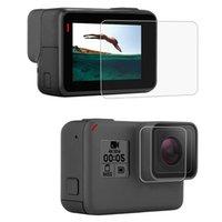 yeni moda ekran koruyucusu toptan satış-Moda Yeni Temperli Cam LCD Ekran Koruyucu Film Lens Koruyucu GoPro Hero Kamera Için