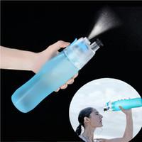 hidratante al por mayor-Botella de agua en spray Botella de agua para deportes al aire libre Hidratante Ciclismo Gimnasio Botellas para beber Taza de agua portátil LJJZ250