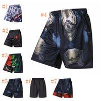 batman pantolonu toptan satış-Batman / Spiderman kısa pantolon Bisiklet ve çabuk kuruyan basketbol şort Gevşek Yaz Plaj Rahat Nefes Erkek Şort LJJZ133