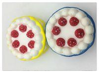 яблочный пирог оптовых-Оптом Slowishies Slow Rising Клубничный торт с кремом Ароматизированные Squishies Снимает стресс-беспокойство Игрушка для ребенка Рождественский подарок DHL