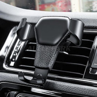 Wholesale phone holders for cars for sale – best Universal Car Phone Holder Air Vent Mount Stand For Phone In Car No Magnetic Mobile Phone Stand Holder with retail package hot sale