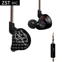 fones de ouvido de 3,5 mm venda por atacado-Kz zst fones de ouvido intra-auriculares fones de ouvido fones de ouvido subwoofer 3.5mm para iphone xiaomi samsung s8 s9 note8