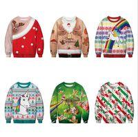 neue hässliche weihnachtsstrickjacken großhandel-Schneller Versand neuer Weihnachtsmann-Weihnachtsmusterstrickjacke hässlicher Weihnachtsstrickjackespitzenfrauen Pullover Blusas
