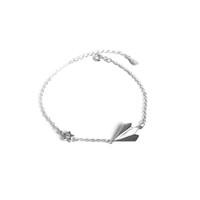 pulseira de design de prata para meninas venda por atacado-1 PC Elegante Pulseira Ajustável Fashion Plane Star Design Prata Sólida Pulseira Pulseira Jóias para Senhora Meninas Mulheres