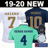 Wholesale xxl real madrid jersey for sale - Group buy New Real Madrid soccer jerseys HAZARD SERGIO RAMOS BENZEMA camiseta football shirt uniforms men kids kit fourth EA sports