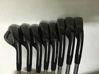 set de set de golf al por mayor-Negro A3 718 Set de hierro 718 A3 Golf Hierros forjados Palos de golf 3-9P Eje de acero con tapa de cabeza
