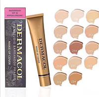 heiße abdeckungen großhandel-Marke Concealer Make-up Basis Make-up Abdeckung Extreme Abdeckung flüssige Foundation Hypoallergen Wasserdicht 30g Günstige Haut Concealer 14 Farbe HOT
