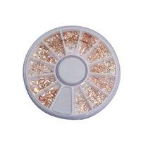 ingrosso chiodo di caduta della decorazione-1 Set 3D Nail Art Strass Glitters Borchie Decorazione Nail Art Drop Shipping 70822