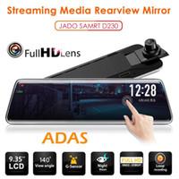 ingrosso touch screen per cruscotto auto-D230 FHD 1080P Car DVR Dashboard Camera 9.35 pollici Touch Screen Dash Cam Visione notturna G-sensor Specchietto retrovisore