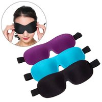 Wholesale quality eye patches resale online - High Quality D Eyeshade Sleeping Eye Mask Eye Shade Patch Black Sleep Eyes Cover Blindfold For Sleeping Travel Rest Raiuleko