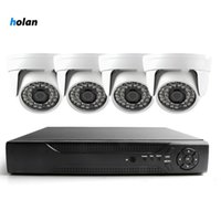 Wholesale video surveillance dvr kit for sale - Group buy 4CH AHD Home Security Camera System Kit Waterproof Outdoor Night Vision IR Cut DVR CCTV Home Surveillance P Black White Camera
