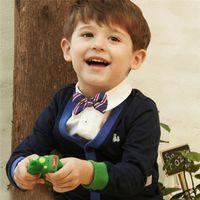 мальчики зеленый лук связь оптовых-New School Boys Kids Necktie Matching Boy Sets Baby Bow Wedding Striped Solid Tie child red green bow tie gentlemen boy