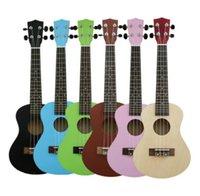 ukulele 23 venda por atacado-Padrão de 23 polegadas clássico ukulele de madeira pouco instrumento para iniciantes de guitarra frete grátis