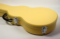 электрогитары оптовых-Новый стиль, высококачественный изготовленный на заказ стандарт lp электрогитара жесткий чехол, желтый кожаный жесткий чехол