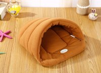 Wholesale hot dog pet bedding for sale - Group buy Hot Pet Cat Bed Small Dog Puppy Kennel Sofa Polar Fleece Material Bed Pet Mat Cat House Cat Sleeping Bag Warm Nest High Quality