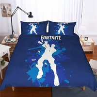 Wholesale super king sized bedding online - 18 designs D Printed Game Fortnite Bedding Sets AU US UK size duvet Cover pillowcase quilt covers Single Twin Full Queen Super King