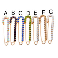 Wholesale auger jewelry for sale - Group buy Ms clothing in Europe and the pin girls birthday party on new set auger multicolor fine pin brooch SETS
