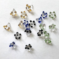 fit minion großhandel-Polychromatischer Glasperlennagel für Glaspfeife Schüssel Gänseblümchen Blume Bildschirm Quarz Banger Loch Rauchen Bong Carb Cap Dab Rig Zubehör