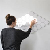 ingrosso arte della parete della lampada-Lampada Quantum Touch Parete led Lampade esagonali modulari sensibili al tocco illuminazione notturna luce esagoni magnetici decorazione creativa lampada da parete