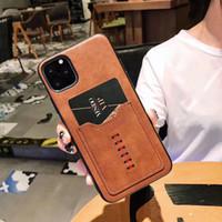 designer-handy-tasche groihandel-Luxus-Designer-Telefonkästen für iphone 11 Pro Max 6 7 8 und Art und Weise mit Kartenbeutel der rückseitigen Abdeckung für iphone X XR XS MAX