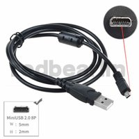 Wholesale Replacement USB Cable UC E6 for Nikon COOLPIX S4000 S4200 S5100 S70 S80 S800C S8000 D3200 D5000 L20 L22 L100 L120 Digital Camera