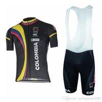 kit de babero de ciclismo para hombre al por mayor-2019 Hombres Colombia Ciclismo Jersey Traje Camisas de bicicleta de carretera Bib Shorts Kits de manga corta de secado rápido Mtb Bicycle Clothing0506