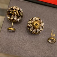 Wholesale korean style stud for sale - Group buy Korean Style Pearls for Women Fashion Gold Color Ear Studs Austria crystal earrings Brand