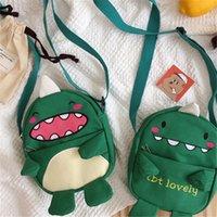 saquinho japonês venda por atacado-Monstro Fun marca Originalidade Design Crianças Canvas pequeno Satchel japonês macio Student Único Shoulder Messenger Bag Feminino