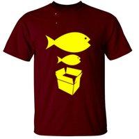 gros poisson achat en gros de-Big Fish Little Fish Boîte en carton Hommes T-shirt Retro Rave Acid House Livraison gratuite Hauts T-shirt