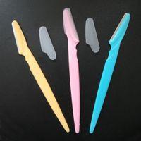 klappernder rasierer großhandel-Tragbare Geklingel Augenbrauen-Trimmer-Haar-Remover-Satz-Augenbraue Rasierer für Makeup CosmeticCutting Werkzeuge
