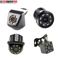 Wholesale hd lights for car resale online - Koorinwoo Universal HD CCD Car Rear View Camera Front Camera Form Night Vision LED Lights Backup Parking Assistance for car