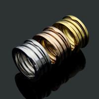 4,5 paar ringe großhandel-Top Qualität Marke Bulgarischen Ring 316L Edelstahl 3 schicht Federringe Für Frauen Männer Hochzeitspaar Elastischen Ring Schmuck