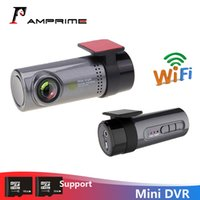 gizli hareketli video toptan satış-AMPrime Mini Araba Dash Kamera 30fps Monitör Full HD Gizli Registrator Dashcam önünde Video Kaydedici Kamera hareket algılama araba dvr