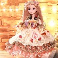 ingrosso scatole regalo del vestito da cerimonia nuziale-Bambola di carta da miele 60 cm vestire da sposa bambola principessa set regalo scatola bambola bambola giocattolo