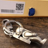 detachable keychains بالجملة-رائد فضاء سلاسل مفاتيح إكسسوارات مصمم أزياء سلاسل مفاتيح إكسسوارات اكسسوارات سلاسل مفاتيح صناديق قلادة للرجال والنساء
