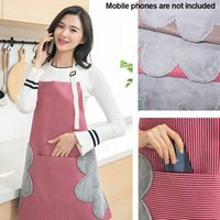Wholesale grill apron resale online - Home Adult Garden Craft Restaurant Multipurpose Grill Kitchen Waterproof With Pockets Oil Resistant Apron Wipe Hands Adjustable