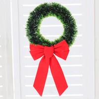 Wholesale diy round bows for sale - Group buy 30cm Office Reusable Round Home With Bow Party DIY Christmas Wreath Wall Hanging Pendant Artificial Door Decoration Ornament