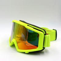 ingrosso occhiali da snowmobile-Nuovo arriva occhiali da sci protezione UV anti-fog motoslitta occhiali da skate per adulti occhiali da snowboard occhiali da sci da neve invernali