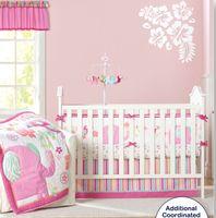 Wholesale baby bedding set pcs crib for sale - Group buy 9 Pc Crib Infant Room Kids Baby Bedroom Set Nursery Bedding Pink Elephant cot bedding set for newborn baby girls