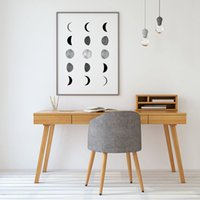 Wholesale single phases resale online - Moon Phases Prints Scandinavian Poster La Lune Photography Moon Wall Art Picture Canvas Painting Home Room Nordic Wall Decor