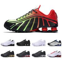 обувь для новобрачных оптовых-2019 shox r4 мужчины женщины кроссовки высшего качества NEYMAR OG COMET RED RACER BLUE Черный металлик мужские кроссовки модные спортивные кроссовки