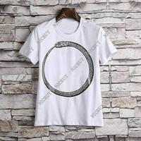 vêtements de designer achat en gros de-Printemps Eté Vêtements de marque Marque Hommes T-shirt lettre simple serpent t-shirt t shirt Runway Tee Casual Top