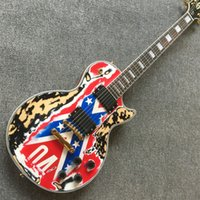 Wholesale china store guitars for sale - New stores China firehawk electric guitar The national flag guitarra guitars