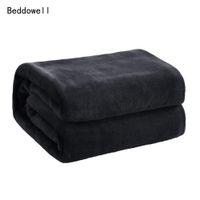 Wholesale bedspreads for king beds online - Solid Color Winter Fuzzy Flannel Blanket Fluffy Warm Soft Sofa Cover Bedspread Blue Black Coral Fleece Plush Blankets For Beds
