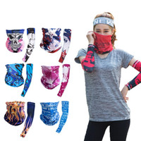 Wholesale cool sports scarves for sale - Group buy Hip hop Bandana Magic Scarf protective sleeves set Sport Sun UV Protection Cooling Face Mask For Running Fishing Cycling LJJA4081